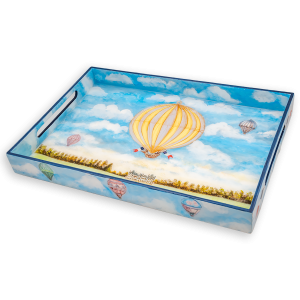"""LAC-91 Montgolfier Balloon 14x20"""" Lacquer Tray"""